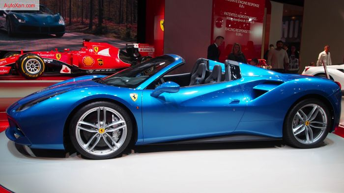 2016 Ferrari 488 GTB Spider blue 661hp