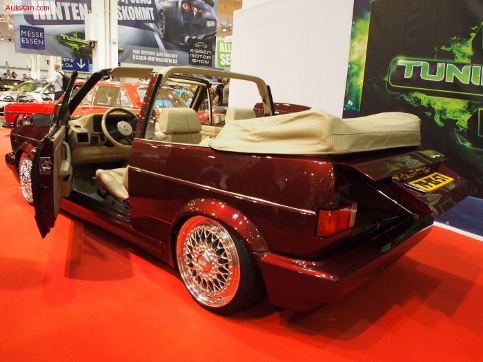 Volkswagen Golf 1 Cabrio 1992 1.8L Turbo 20VT 245 ps 345 Nm H&R deep Farhwerk BBS RS 7jxR17 Tuning
