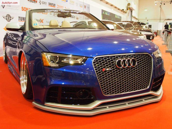 Audi A5 Cabrio 2010 Tuning 2.0 TDI 193 ps G.A.S. Rotiform SjC 9.5j 11j x R19 Sepang-Blau -  Exterior Walkaround