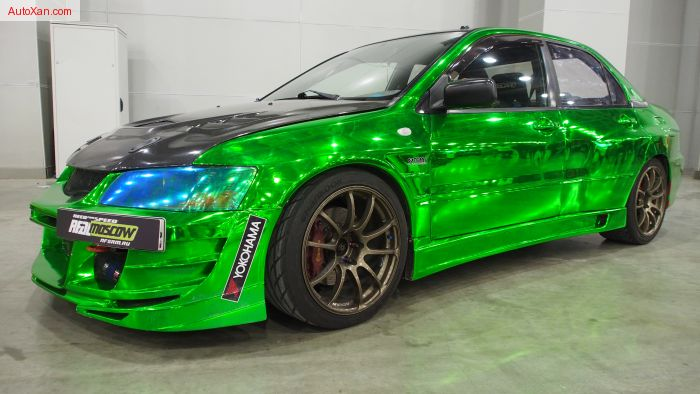 Need For Speed Real Moscow - Mitsubishi Lancer Evo Tuning  - Green Chrome